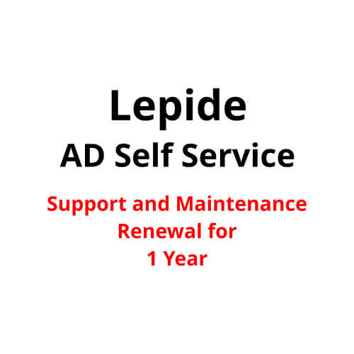 Lepide AD Self Service Support and Maintenance Renewal for 1 Year 2017